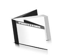 Softcover Kataloge drucken  8 Seiten Umschlag Klebebindung Querformat