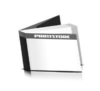 Softcover Broschüren drucken  6 Seiten Umschlag Klebebindung Querformat