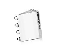 Softcover Kataloge bedrucken CB-Drahtheftung  4 CB-Klammern