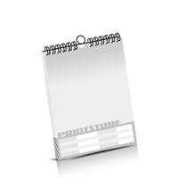 Kalender drucken OHNE Kalenderdeckblatt Kalenderblätter einseitiger Druck Drahtkammbindungen Kalender Druck im Hochformat