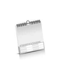 Kalender drucken OHNE Kalenderdeckblatt Kalenderblätter einseitiger Druck Drahtkammbindungen Kalender Druck im Quadratformat