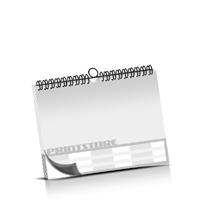 Kalender drucken OHNE Kalenderdeckblatt Kalenderblätter beidseitiger Druck Drahtkammbindungen Kalender Druck im Querformat