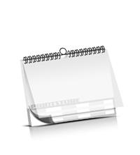 Kalender drucken PVC-Frontblatt OHNE Kalenderdeckblatt Kalenderblätter beidseitiger Druck Drahtkammbindungen Kalender Druck im Querformat
