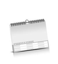 Kalender drucken OHNE Kalenderdeckblatt Kalenderblätter einseitiger Druck Drahtkammbindungen Kalender Druck im Querformat