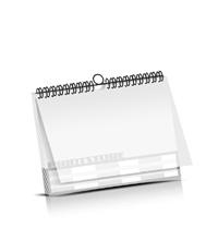 Kalender drucken PVC-Frontblatt OHNE Kalenderdeckblatt Kalenderblätter einseitiger Druck Drahtkammbindungen Kalender Druck im Querformat
