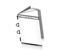 Kataloge drucken  4 Seiten Umschlag Kombinationsheftung  2 Ringösen &  2 Heftklammern