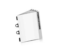 Softcover Kataloge bedrucken CB-Drahtheftung  2 CB-Klammern &  2 Drahtklammern
