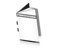 Broschüren drucken  6 Seiten Umschlag Rückendrahtheftung  2 Heftklammern Hochformat