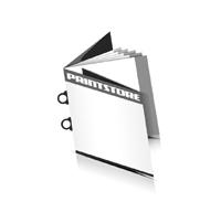 Magazin  8 Seiten Umschlag (2 Ausklappseiten) Omegadrahtheftungen  2 Omegaklammern Quadratformate
