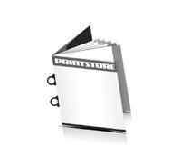Magazin  6 Seiten Umschlag (1 Ausklappseite) Omegadrahtheftungen  2 Omegaklammern Quadratformate