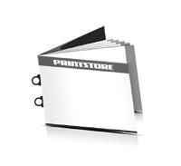 Preislisten drucken  6 Seiten Umschlag Ringösenheftung  2 Ringösen Querformat