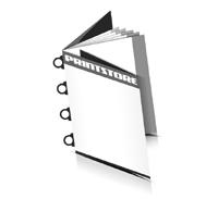 Magazin  8 Seiten Umschlag (2 Ausklappseiten) Omegadrahtheftungen  4 Omegaklammern