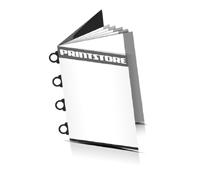 Magazin  6 Seiten Umschlag (1 Ausklappseite) Omegadrahtheftungen  4 Omegaklammern