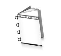 Prospekt  4 Seiten Umschlag Ringösenheftungen  4 Ringösen-Klammern
