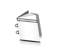 Prospekt  4 Seiten Umschlag Ringösenheftungen  2 Ringösen-Klammern Quadratformate