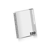 Broschüren drucken  16 Seiten bis  320 Seiten Broschüren mit Wire-O Bindung Drahtkamm links Hochformat