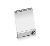 Broschüren drucken  16 Seiten bis  320 Seiten Broschüren mit Wire-O Bindung Drahtkamm oben Hochformat