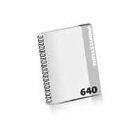 Broschüren drucken  324 Seiten bis  640 Seiten Broschüren mit Wire-O Bindung Drahtkamm links Hochformat