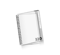 Imagebroschüren drucken  16 Seiten bis  320 Seiten Imagebroschüren mit Drahtkammbindung PVC-Frontblatt oder PVC-Endblatt (1 Blatt PVC) Drahtkamm links Hochformat