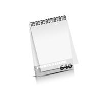 Imagebroschüren drucken  324 Seiten bis  640 Seiten Imagebroschüren mit Drahtkammbindung PVC-Frontblatt oder PVC-Endblatt (1 Blatt PVC) Drahtkamm oben Hochformat