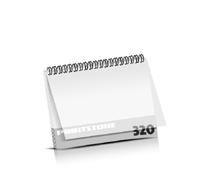 Imagebroschüren drucken  16 Seiten bis  320 Seiten Imagebroschüren mit Drahtkammbindung PVC-Frontblatt oder PVC-Endblatt (1 Blatt PVC) Drahtkamm oben Querformat