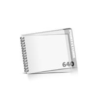 Broschüren bedrucken  324 Seiten bis  640 Seiten Broschüren mit Wire-O Bindung PVC-Titelblatt oder PVC-Endblatt (1 Blatt PVC) Draht-Kamm links Querformat