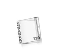 Broschüren bedrucken  16 Seiten bis  320 Seiten Broschüren mit Wire-O Bindung PVC-Titelblatt oder PVC-Endblatt (1 Blatt PVC) Draht-Kamm links Quadratformat