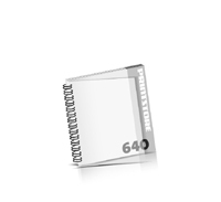 Broschüren bedrucken  324 Seiten bis  640 Seiten Broschüren mit Wire-O Bindung PVC-Titelblatt oder PVC-Endblatt (1 Blatt PVC) Draht-Kamm links Quadratformat