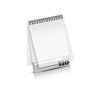 Imagebroschüren drucken  16 Seiten bis  320 Seiten Imagebroschüren mit Drahtkammbindung PVC-Frontblatt und PVC-Endblatt (2 Blätter PVC) Drahtkamm oben Hochformat