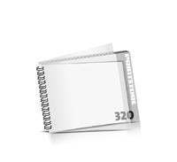 Imagebroschüren drucken  16 Seiten bis  320 Seiten Imagebroschüren mit Drahtkammbindung PVC-Frontblatt und PVC-Endblatt (2 Blätter PVC) Drahtkamm links Querformat