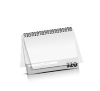 Imagebroschüren drucken  16 Seiten bis  320 Seiten Imagebroschüren mit Drahtkammbindung PVC-Frontblatt und PVC-Endblatt (2 Blätter PVC) Drahtkamm oben Querformat