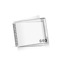 Imagebroschüren drucken  324 Seiten bis  640 Seiten Imagebroschüren mit Drahtkammbindung PVC-Frontblatt und PVC-Endblatt (2 Blätter PVC) Drahtkamm links Querformat