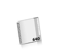 Prospekte bedrucken  324 Seiten bis  640 Seiten Prospekte mit Wire-O Bindung Draht-Kamm links Quadratformat