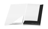 Angebotsmappen drucken stanzen & falten Dreiecks-Taschen Einseitige Angebotsmappen geschlossen A4 Überformat