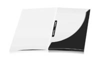 Mappen stanzen, kleben & falten Schnellheftmechaniken Einseitiger Druck geschlossen A4 Überformat