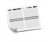 Druckbogen ausgeschossener Druckbogen beidseitig bedruckter Druckbogen