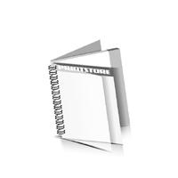 Preislisten drucken  1 PVC Titel- oder End-Blatt Deck-Blatt  2 Seiten Schluss-Blatt  2 Seiten Preislisten mit Wire-O Bindung Drahtkamm links Quadratformat