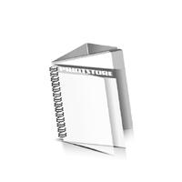 Preislisten drucken  1 PVC Titel- oder End-Blatt Deck-Blatt  2 Seiten Schluss-Blatt  4 Seiten Preislisten mit Wire-O Bindung Drahtkamm links Quadratformat