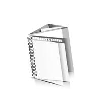 Preislisten drucken  1 PVC Titel- oder End-Blatt Deck-Blatt  2 Seiten Schluss-Blatt  6 Seiten Preislisten mit Wire-O Bindung Drahtkamm links Quadratformat