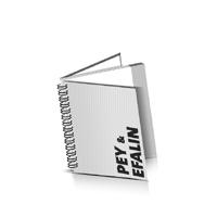 Hardcover Geschäftsberichte drucken Efalin oder Pey Deckeleinband Wire-O Bindung Quadratformat