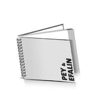 Hardcover Geschäftsberichte drucken Efalin oder Pey Deckeleinband Wire-O Bindung Querformat