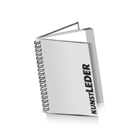 Hardcover Broschüren bedrucken Kunstleder Buchüberzug Wire-O Bindung Hochformat