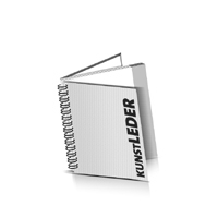 Hardcover Geschäftsberichte drucken Kunstleder Deckeleinband Wire-O Bindung Quadratformat
