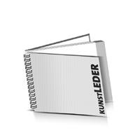 Hardcover Broschüren bedrucken Kunstleder Buchüberzug Wire-O Bindung Querformat