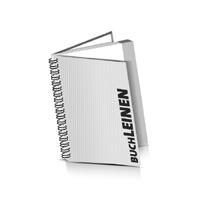 Hardcover Geschäftsberichte drucken Leinen Deckeleinband Wire-O Bindung Hochformat