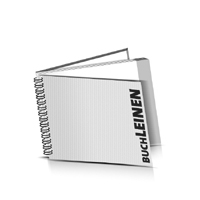 Hardcover Broschüren bedrucken Leinen Buchüberzug Wire-O Bindung Querformat