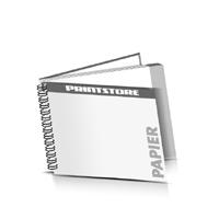Hardcover Geschäftsberichte drucken Papier Deckeleinband Wire-O Bindung Querformat