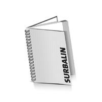 Hardcover Broschüren bedrucken Surbalin Buchüberzug Wire-O Bindung Hochformat
