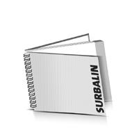 Hardcover Geschäftsberichte drucken Surbalin Deckeleinband Wire-O Bindung Querformat