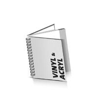 Hardcover Broschüren bedrucken Vinyl oder Acryl Buchüberzug Wire-O Bindung Quadratformat